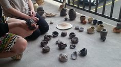 Taking time to enjoy the saggar fired Ceramic works by kil.n.it resident artist Paige Phillips <3 Photo credit: Rachael Mccallum