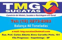 TMG SUCATAS Comércio de Metais Sucatas e Reciclagem em Geral