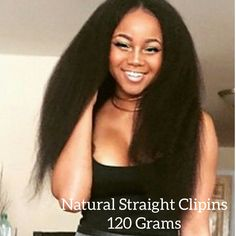 Krs hair group not so knappy clip in extensions 20 inch natural kinky straight clip ins 120 grams pmusecretfo Choice Image