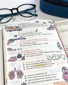 "19k Likes, 92 Comments - emma ‍ (@peachystudy) on Instagram: ""13:45 last week's bujo page! as you can see i had mock exams so i was busy revising ‍♀️ weird to…"""