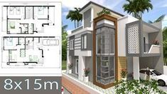 Home Design Plan with 4 Bedrooms - SamPhoas Plansearch Style At Home, Rooftop, Terrace, Multi Story Building, House Design, How To Plan, Mansions, House Styles, Bedrooms