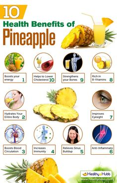 Pin  Interesting  info on >> 10 Proven Health Benefits of Pineapple...