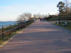 walking path along the beach
