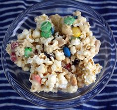 Rah Cha Chow: Positively Addictive Popcorn Mix We will make this in the am as a class working on measurement and then eat for party.