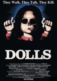 """Cartel película """"Dolls"""" 1987"""