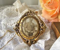 Antique Mourning Brooch Victorian Swivel Mourning by cynthiasattic