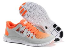 Nike Free 5.0 2 Breathe Dames Grijs Oranje Zwart