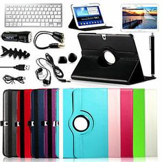 """Mouse over image to zoom  Have one to sell? Sell it yourself Details about  360 Rotating Leather Hard Case Cover For Samsung Galaxy Tab 3 10.1"""" Tablet P5200"""