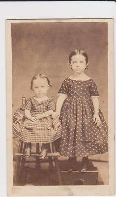Gorgeous 1864 CDV of Two Little Children One Cent Revenue Stamp | eBay