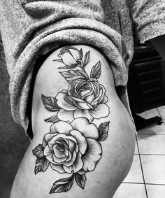 Rose Tattoo Hip ❤️