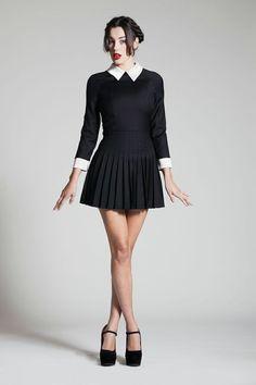 Wednesday Adams (BELLE DE JOUR Dress My style   goth grunge edgy  DarkFashion style DollInspired b6fe2d48b941