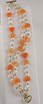 Jewelry Making Idea: Tangerine Bracelet (eebeads.com):