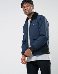 Get this Nicce London's bomber jacket now! Click for more details. Worldwide shipping. Nicce London MA1 Bomber Jacket With Faux Fur Collar - Navy: Bomber Jacket by Nicce London, Midweight woven fabric, Quilted lining with internal pocket, Detachable faux fur collar, Zip opening, Functional pockets, Ribbed cuffs and hem, Regular fit - true to size, Dry clean, 100% Nylon, Our model wears a size Medium and is 6'2�/188 cm tall.  (bomber, bómber, bombers, estilo bomber, bomberjacke, bomber…