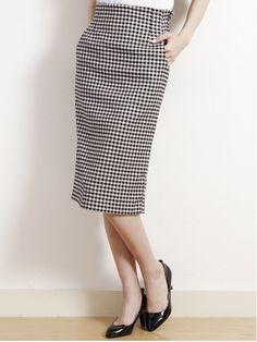 YECCA VECCA(YECCA VECCA)通販 |ギンガムタイトスカート