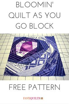 What a fun block! Love quilt as you go patterns.