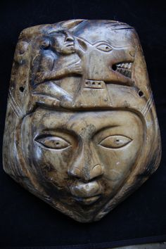 Mixtec Ceremonial MaskThe mask has always been used as a ritual agent of transformation in Mesoamerica. The ritual wearer of this mask, the shaman, not only represented the god; he was the god