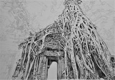 Acoustic Drawings The Shinji Ogata Gallery: Ta Prohm, Cambodia 7 タ・プローム(カンボジア) 7