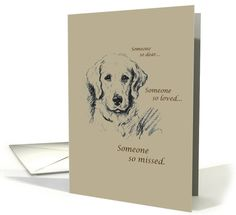 Dog Sympathy - So Missed card (146774)