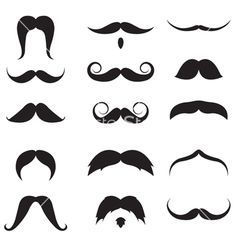 Mustache set vector for photobooth props