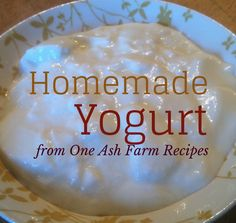 Homemade Yogurt #DairyCow, #Recipe, #Yogurt #HomestyleCooking