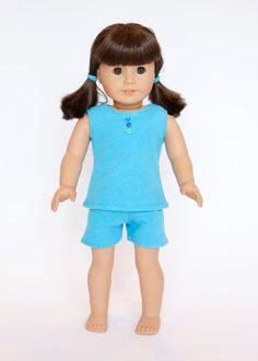American Girl Doll clothes  blue pajamas by EverydayDollwear, $13.00