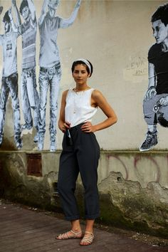 On the Street….Matte Sequined Top for Day, Florence. Oh I love this outfit!