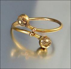 Victorian Bracelet Gold Fill Bangle Etruscan Antique by boylerpf, $120.00