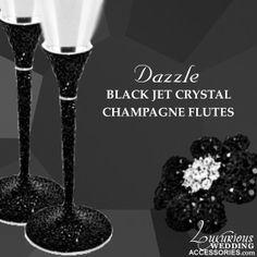 Luxurious Wedding Accessories — Tuxedo Black & Silver Wedding Collection