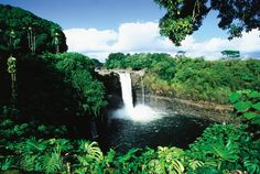 #Waterfall on Big Island, #Hawaii.