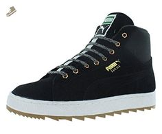 PUMA Women's Suedewinterizedruggedwn's Classic Suede, Black/Black, 8.5 M US  - Puma sneakers
