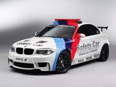 BMW M Coupe MotoGP Safety Car The motorcycle road racing world championship - or MotoGP - ranks among the world\'s most popular and spectacular. Bmw Serie 1, Bmw 1 Series, Bmw M1, Bmw Autos, Bmw Car Models, Bmw Cars, Car Images, Car Pictures, Desktop Pictures
