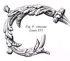 feuille acanthe Louis XVI