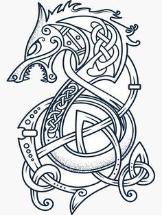 'Viking Dragon Tattoo Kattegat Floki T-Shirt & accessories for Viking warriors Lover' Glossy . 'Viking Dragon Tattoo Kattegat Floki T-Shirt & accessories for Viking warriors Lover' Glossy Sticker by This Source by T-Shirts Viking Warrior, Dragon Viking, Viking Dragon Tattoo, Viking Tattoos, Celtic Dragon, Dragon Age, Small Hand Tattoos, Foot Tattoos, Unique Tattoos