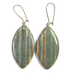 Southwestern Landscapes Series - Weathered Barn Polymer Clay Earrings by SCDiva via Etsy.