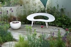 Planters and Furnishings Concrete, Shell Bench by Urbis Design 01