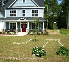 Show me your blue-gray house (and red doors)   Pinterest   Grey ...