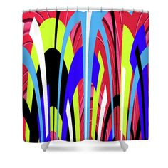 Bright Color Abstract Shower Curtain featuring the photograph Bright Color Abstract by Tom Janca