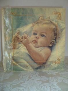 Award Winning Heirloom Linen Baby Memory Book - Baby Boy Blonde $64.00