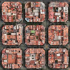 Barcelona | Catalonia | Spain | Nine blocks in the so-called Cerdà Plan of…