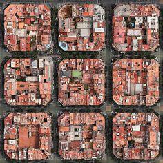 Barcelona | Catalonia | Spain | Nine blocks in the so-called Cerdà Plan of…