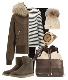 """""""Perfect Puffer Jacket"""" by simpleautumn on Polyvore featuring Maje, Miss Selfridge, Proenza Schouler, Holland Cooper and UGG"""