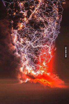 Volcanic lightning                                                                                                                                                                                 More