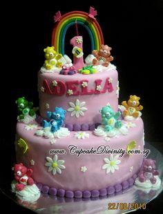 care bear cake, three bear, princess birthday, carebear, care bears cake, birthday cake, fondant cakes, parti