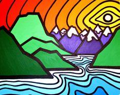 Sunshine Coast Mountains 8 x 10 Fine Art Print of door leannespanza, Zentangle, 6th Grade Art, Sun Art, Cool Art Projects, Mountain Art, Middle School Art, Arts Ed, Aboriginal Art, Art Classroom
