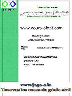 Cours complet en résistance des matériaux | cours génie civil WWW.JOGA.C.LA - cours, exercices corrigés et videos