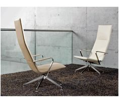 #DailyProductPick Exo loungers by Davis contrast chrome with natural or white leather upholstery. #Exoloungers #chairs #chair #loungechair #Davis #InteriorDesignMagazine #InteriorDesign #design  see more at www.interiordesign.net