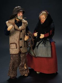 Two Sculpted Paper Mache Dolls by Violet Powell Gifted to Shirley Temple $400+ Auctions Online | Proxibid
