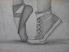 Converse and pointe always remember there are always two sides of people. I dance and love this so much.
