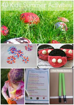 40  Kids Summer Activities #kidsactivities #thetaylorhouse