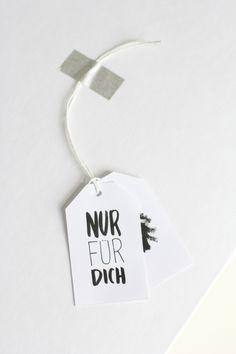 DIY: NUR FÜR DICH Geschenkanhänger | we love handmade